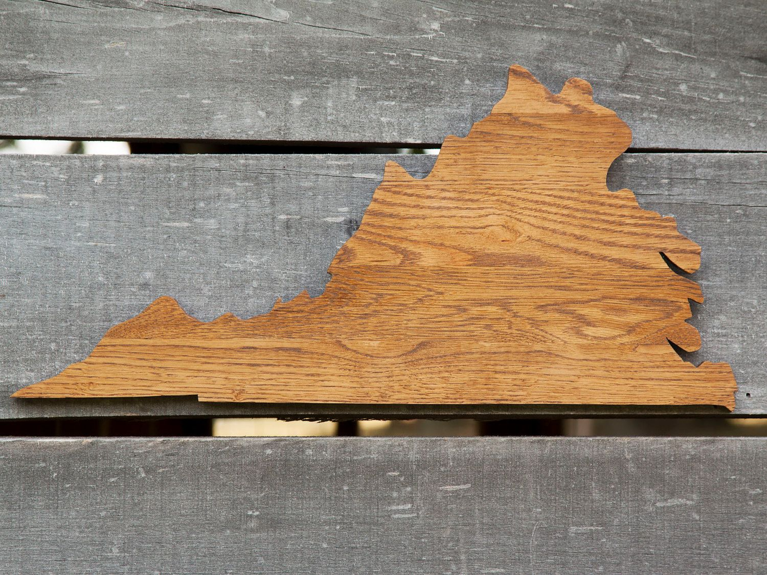 Virginia State Shape Wood Cutout Sign Wall Art Handcrafted From Re Purposed Oak Flooring 10x21 In Wedding Count Silhouette Wall Art Wood Cutouts State Shapes
