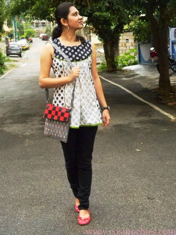 Black Skinny Jeans With Short Kurta Top & Flats: Outfit Of The Day Mother  Earth