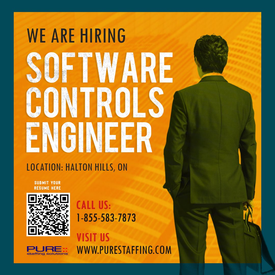 We are Hiring Software Controls Engineer Email symbol