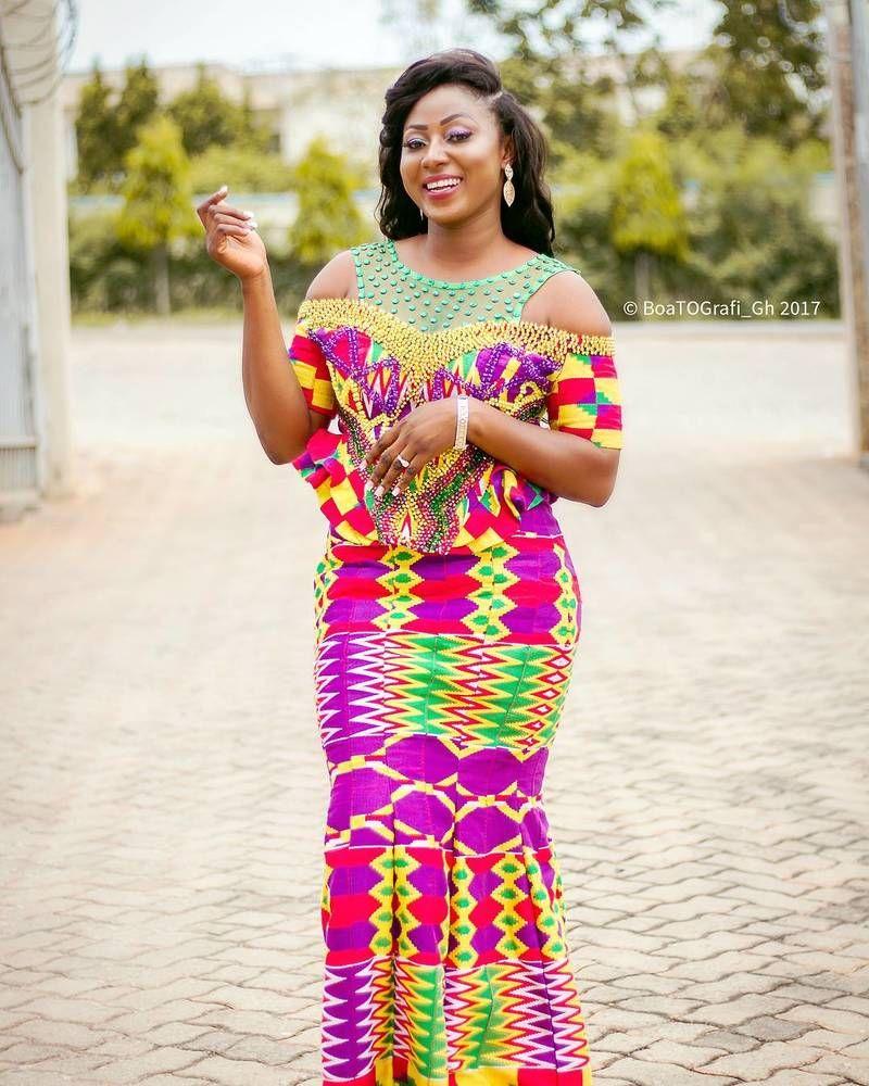 model de robe de mariage en pagne
