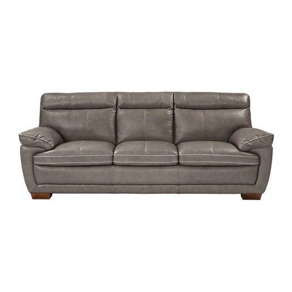 Rooms To Go Cindy Crawford Home Casa Moderna Gray Leather Sofa At