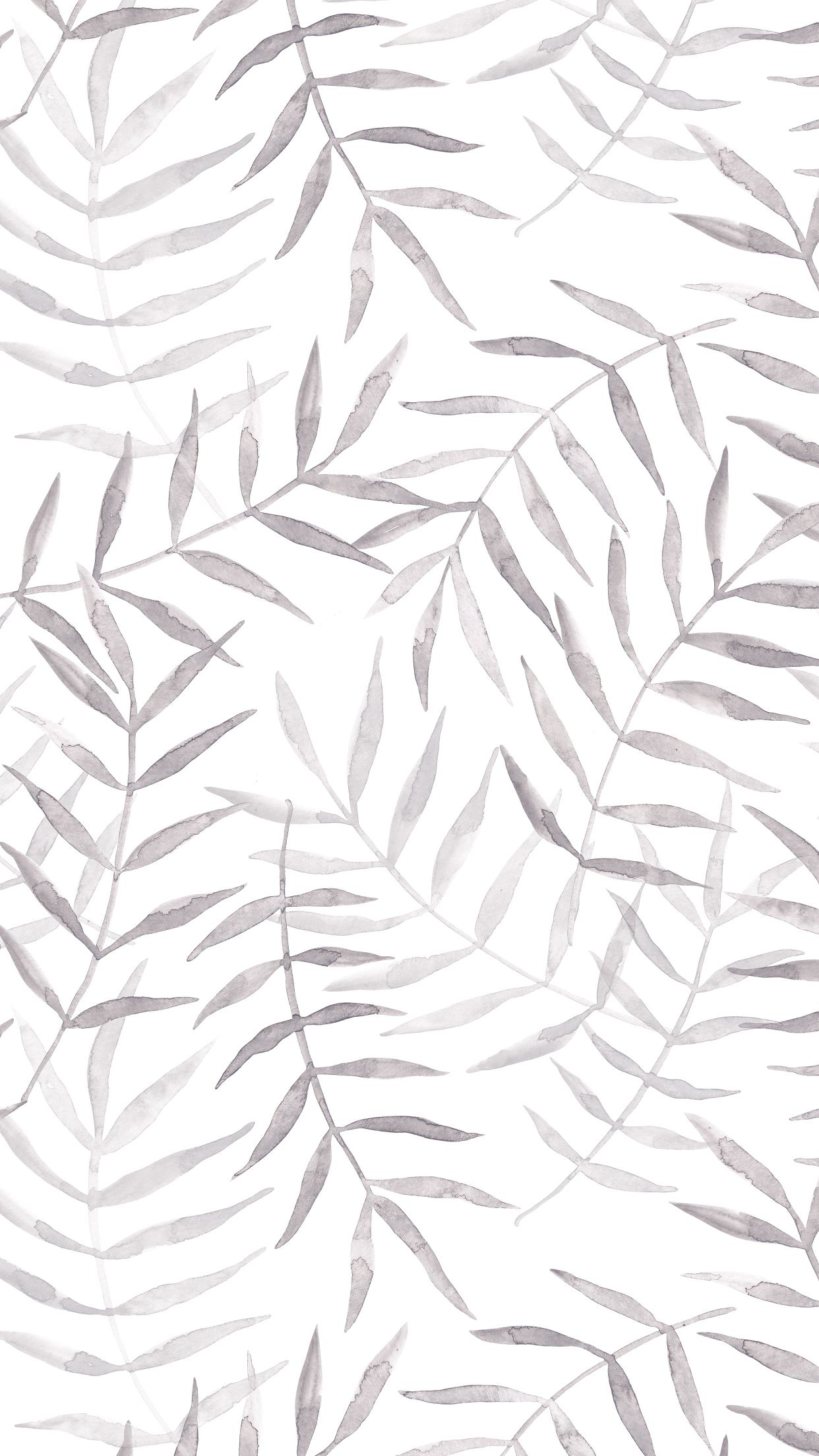 Watercolor Grey Tropic Leaves Grey Wallpaper Iphone Iphone Background Wallpaper Cute Patterns Wallpaper