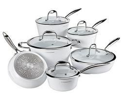 Lagostina Bianco Ceramic Forged Cookware Set White 11 Pc From Canadian Tire 29 99 70 Off Forged Cookware Lagostina Cookware Set