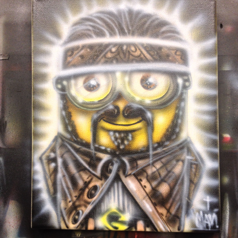 Chicano Minion Airbrush Art