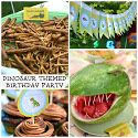 DINOSAUR THEMED  PARTY { ...and FREE printables }