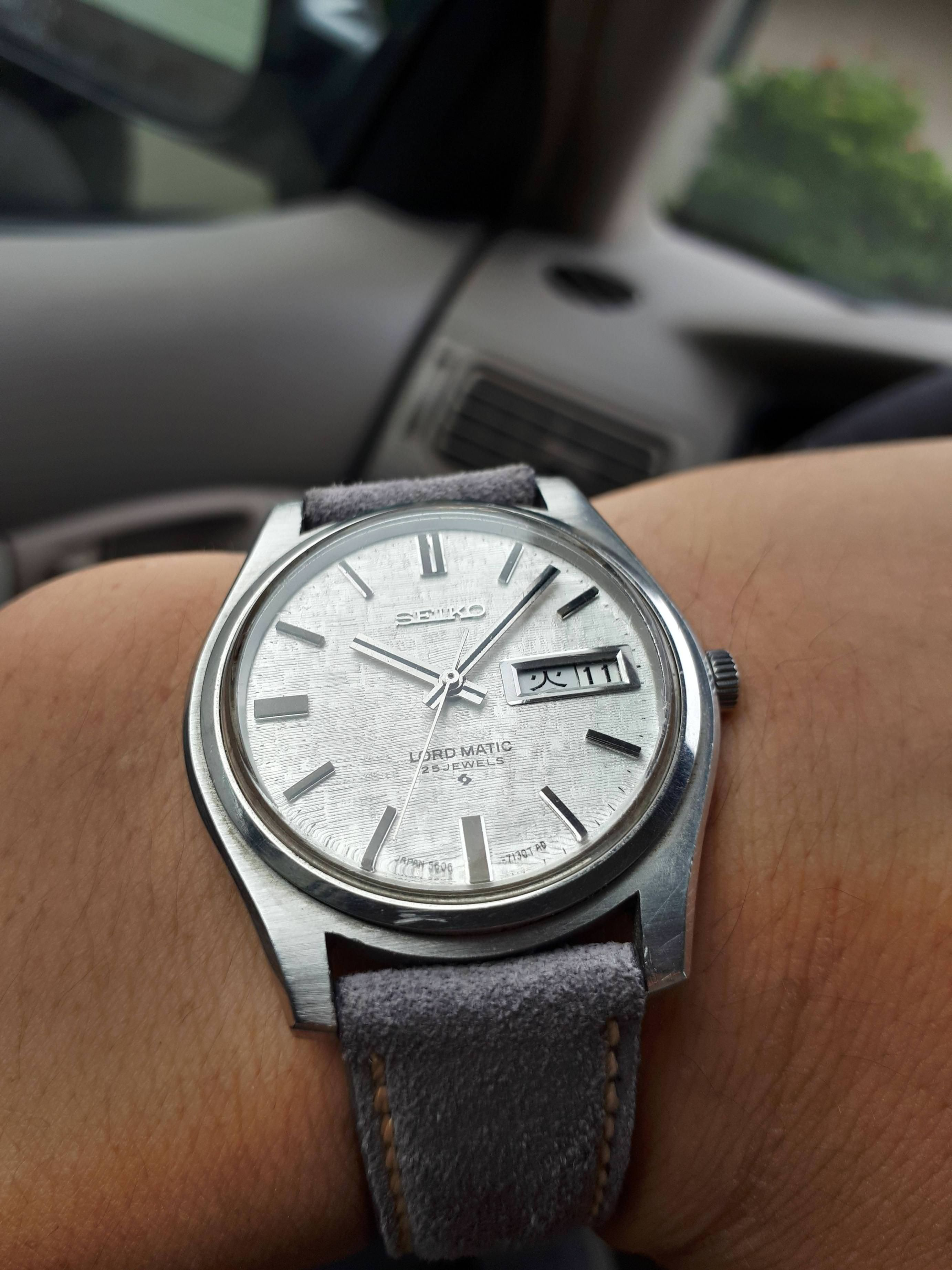 4f6b7847f Seiko] Vintage Seiko Lordmatic on a new grey suede strap | Watches ...