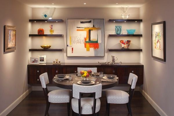 Floating Shelves In Dining Room  Google Search  Dining Rm Endearing Shelves Dining Room Decorating Inspiration