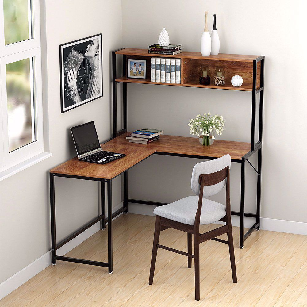 Making L Shaped Desks Installed In The Wall Http Teenagereader Com Making L Shaped Desks Inst Home Office Layouts Small Home Offices Office Interior Design