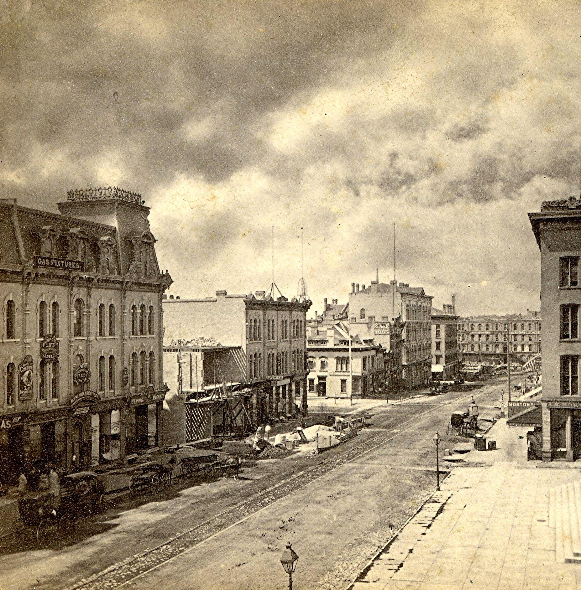 Yesterday S Milwaukee Downtown Milwaukee 1871 Milwaukee City