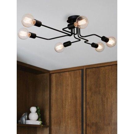 Pac 6 Light Pendant in Black | Pendant Lights | Lighting