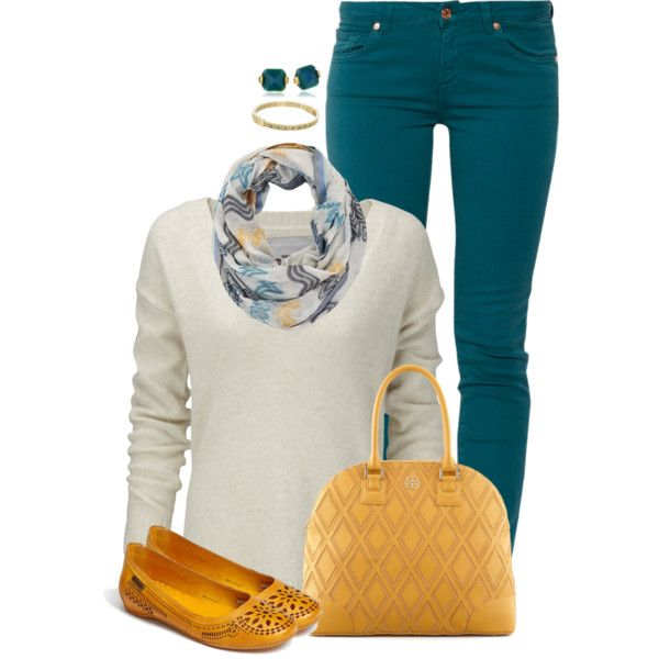 Dark Teal And Yellow Turquoise Pants Outfit Teal Outfits Pants Outfit Fall