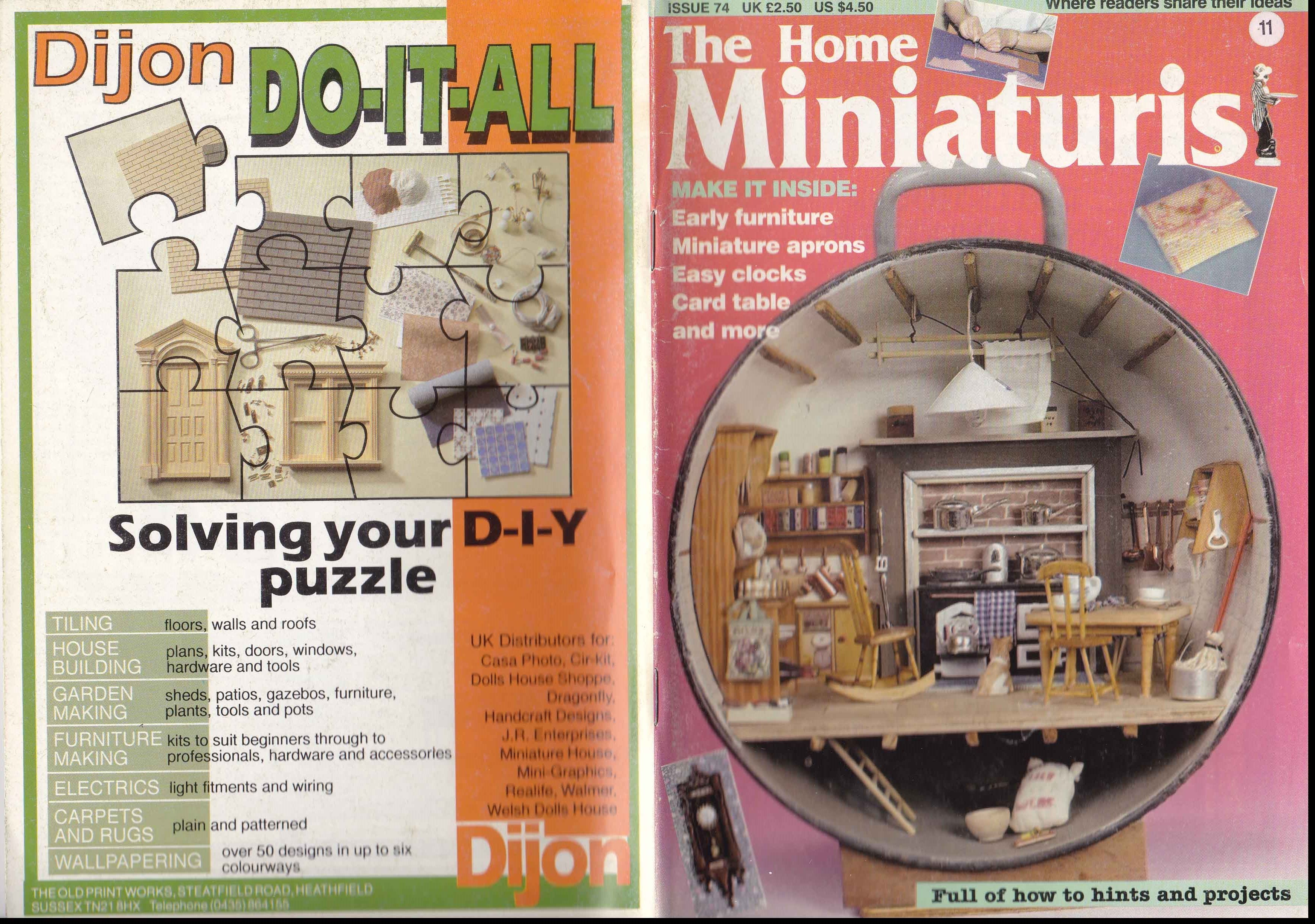 Pin By Denise Ferrari On Dollhouse Mini Printable Pinterest Building Wiring Books Bookcase Diy Miniatures House And Home Magazine Book
