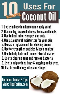 10 Amazing Uses for Coconut Oil - From soothing bug bites, to homemade shaving creams, check out some of the ways this amazing oil can be used to your benefit