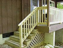 How To Build A Basic 2x4 Handrail For A Deck Or Balcony Deck Stair Railing,