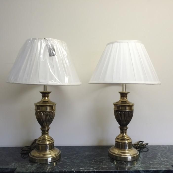Pair of brass table lamps looking for antiques lamps pinterest pair of brass table lamps looking for antiques greentooth Image collections