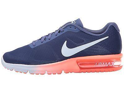 Nike Air Max Sequent Womens 719916-505 Dark Purple Mango Running Shoes Size  10 f18e11df66