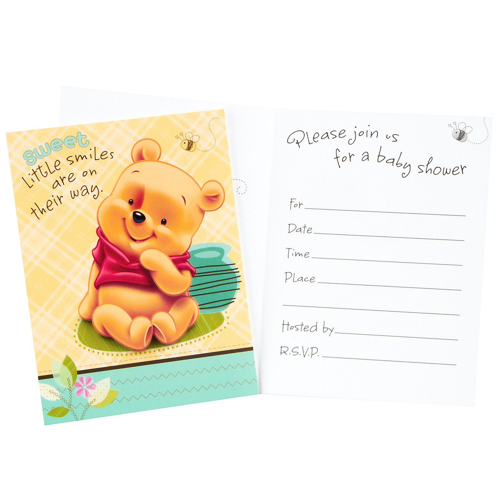 Download Now Free Template Winnie The Pooh Design For Your Baby Shower Sunshine Baby Shower Invitations My Little Sunshine Baby Shower Baby Shower Invitations
