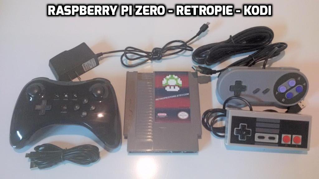 Raspberry Pi Zero in an NES Cartridge 32GB Retropie Console