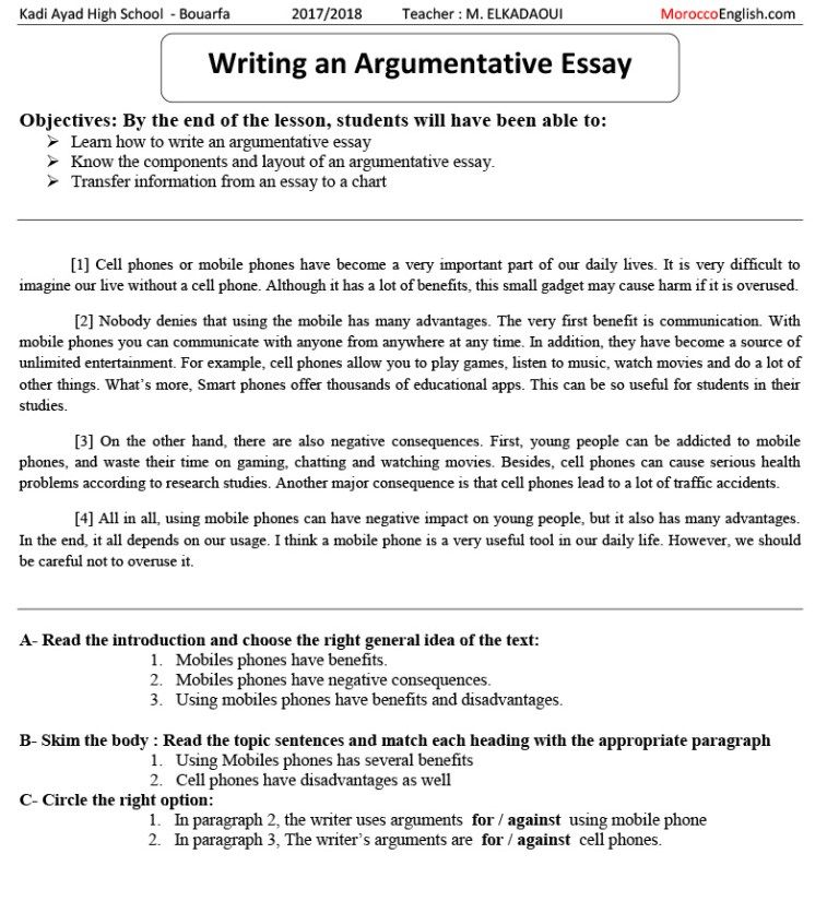 How to teach students to write an argumentative essay phd thesis tribunal
