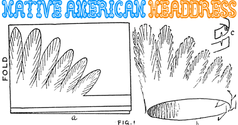 How To Make A Paper Native American Indian Headdress Hat Aztec Headdress Native American Headdress Native American Drums