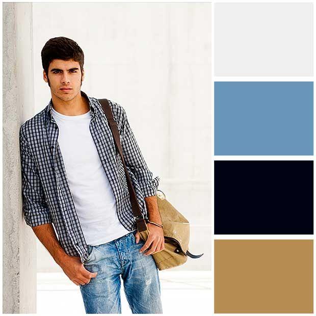 Combinaciones de colores en ropa hombre