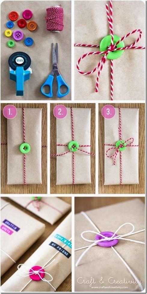 Cómo envolver un regalo reciclando objetos