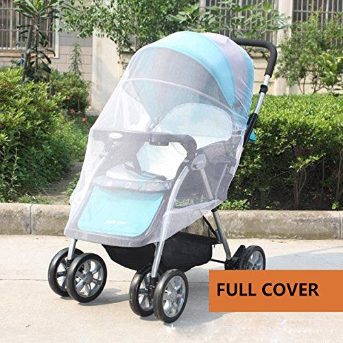 IFfree 2pcs Full Cover Baby Mosquito Net For Strollers Carriers Car Seats CradlesPortable Durable Insect Netting Universal 150cm