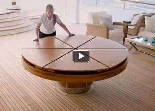 Expandable Round Dining Table The Fletcher Capstan Table Large