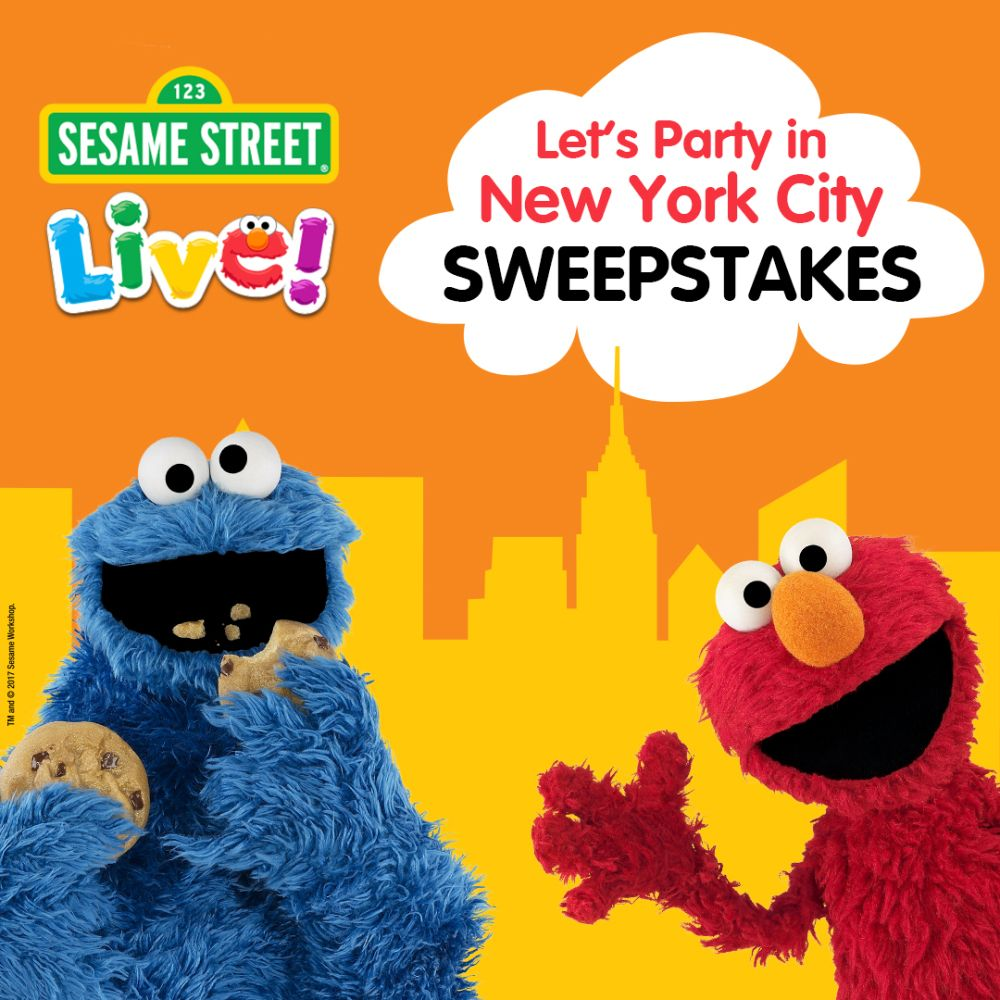 Enter for the chance to win a 4 day3 night trip for 4 to new york for 4 to new york city in the sesame street live lets party in new york city sweepstakes includes an exclusive once in a lifetime meet and greet m4hsunfo