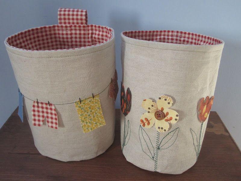 Free Fabric Buckets Sewing Tutorial By Irina Raw Edge Applique Video