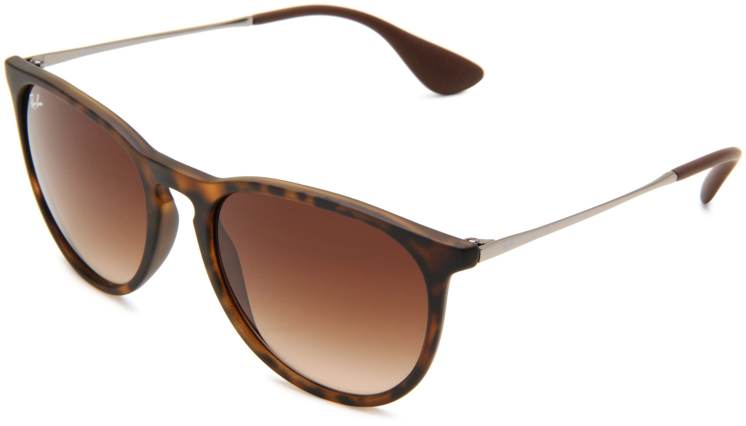 Amazon.com  Ray Ban RB4171 Erika Sunglasses-600068 Dark Rubber Sand (Brown  Grad Lens)-54mm  Ray-Ban  Shoes a4fd9b36ed