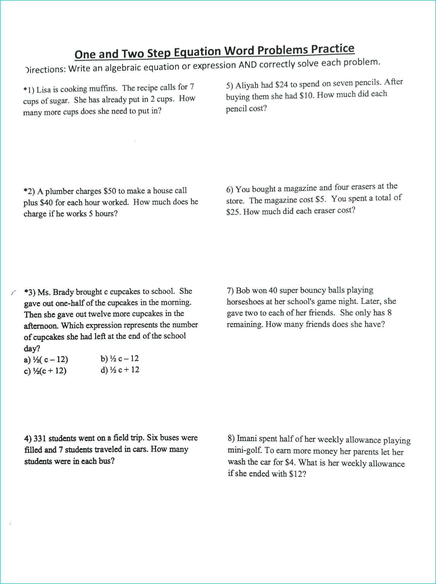 Adding and Subtracting Integers Word Problems Worksheet - All About  Worksheet   Word problem worksheets [ 1920 x 1434 Pixel ]