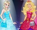Em Elsa Vs Barbie A Rainha Do Gelo Elsa E A Fashionista Barbie