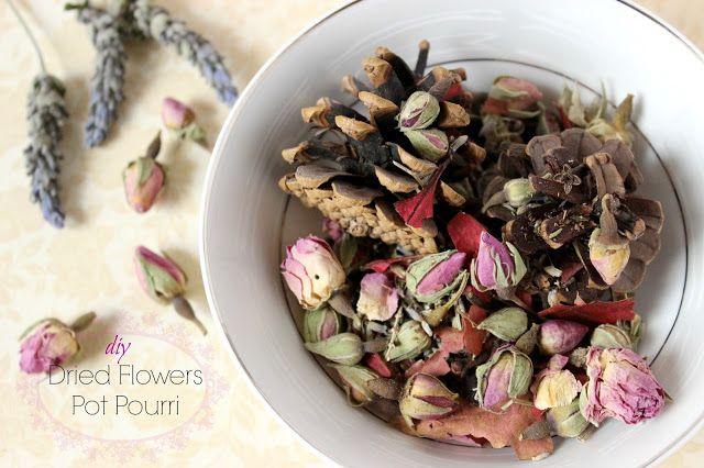 DIY Dried Flowers Pot Pourri!!!!