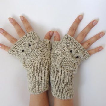 Image result for owl fingerless gloves knitting pattern free ...