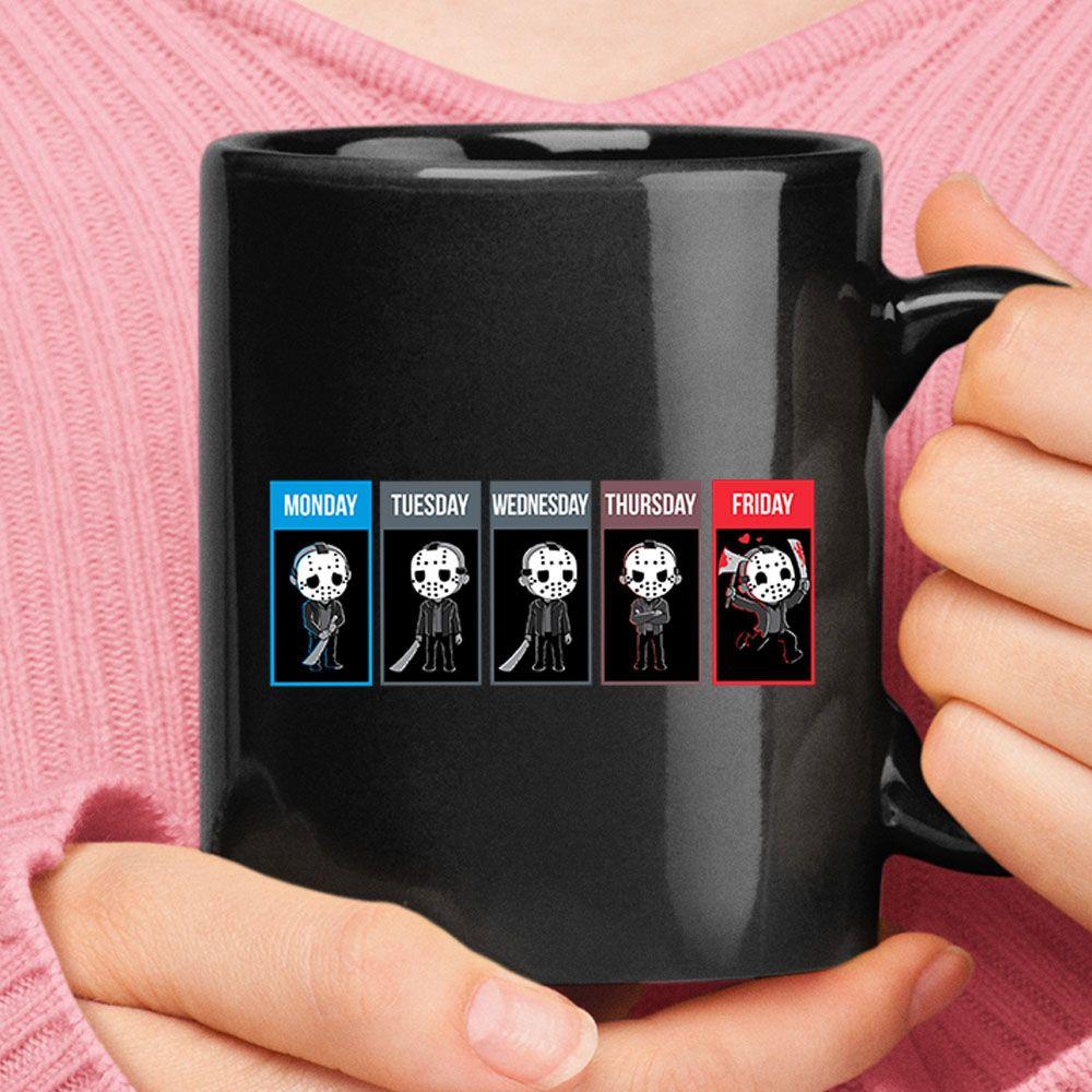 Weekday Emotion Jason Voorhees Style Love Friday Mug ...