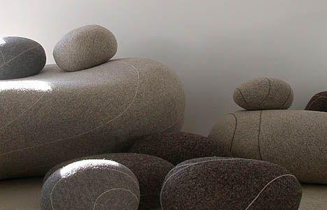 cocooning sur canap galet livingstone archi mobiliers pinterest coussin galet. Black Bedroom Furniture Sets. Home Design Ideas