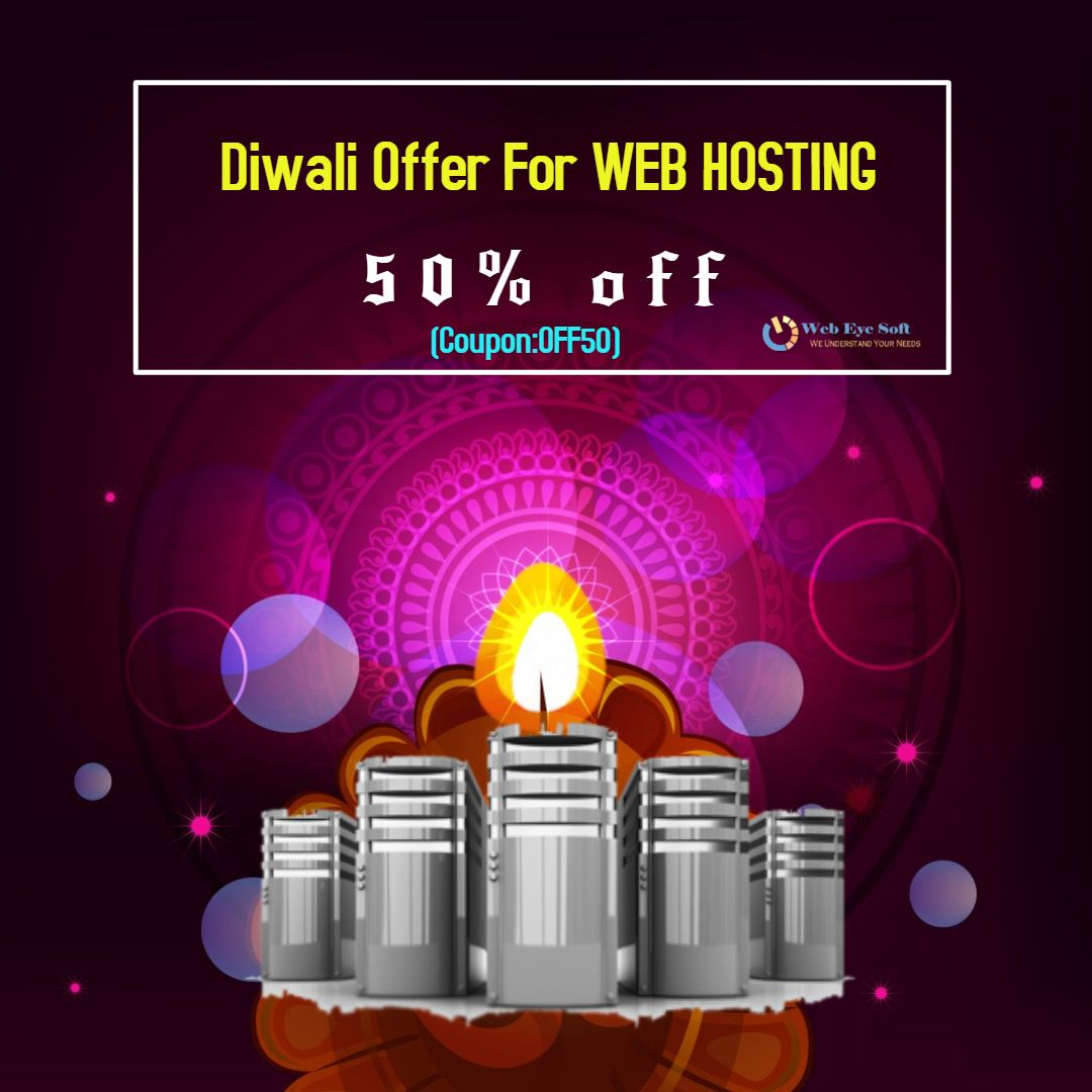 Diwali offer for web hosting use coupon off50 with