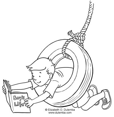 Dulemba Coloring Page Tuesday Tire Swing Moldes
