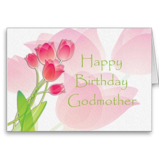 Pink Tulip Birthday Card For Godmother Zazzle Sales 2013