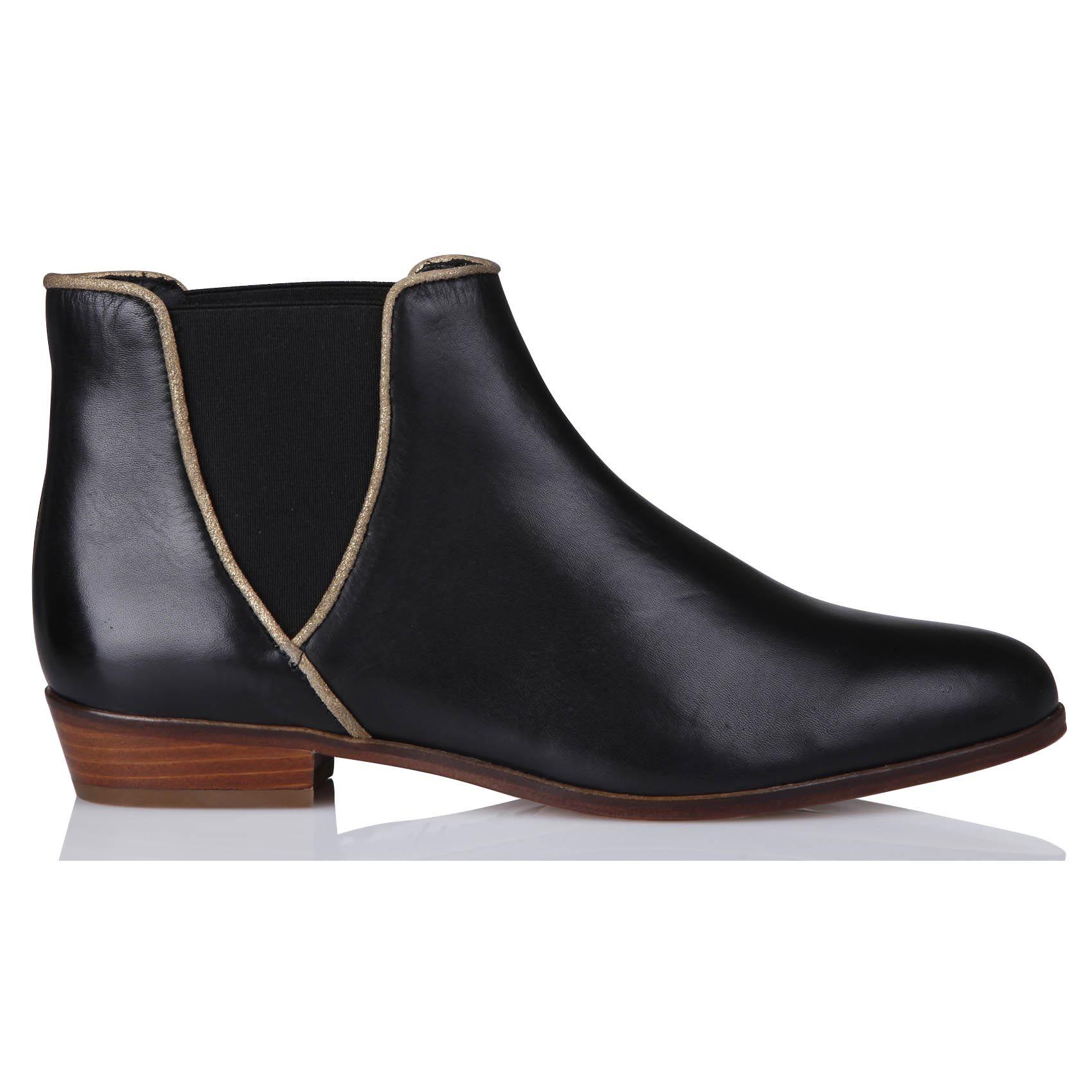 boots à élastiques la londonienne noirbobbies | chaussure