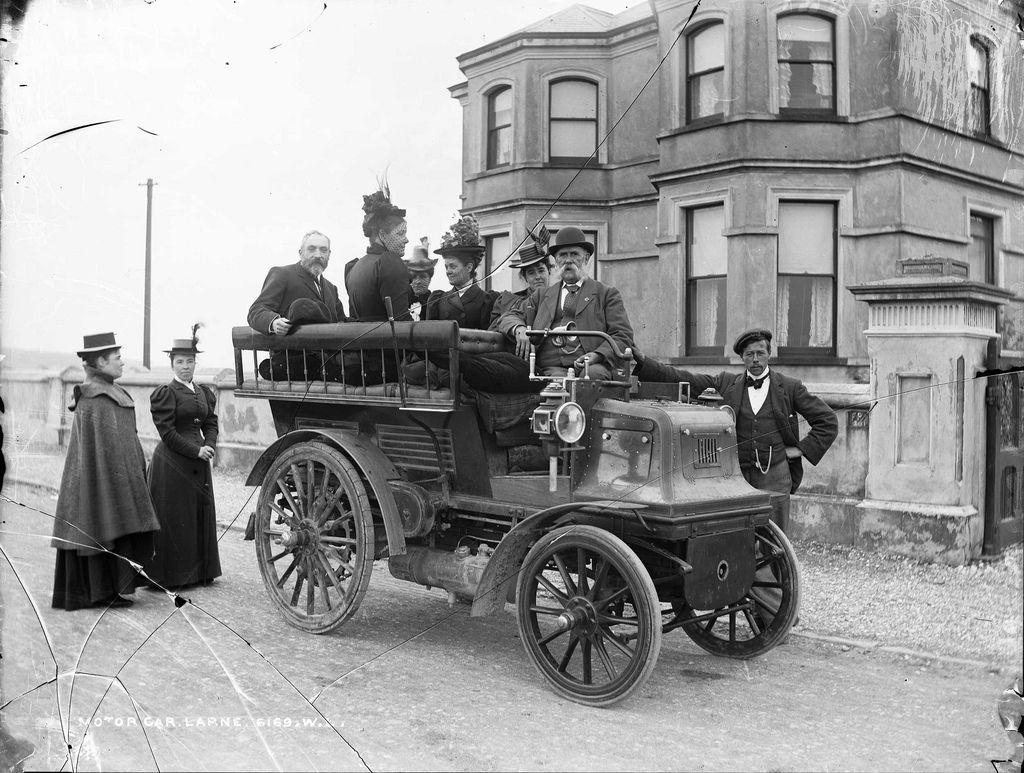 Motor Car at Larne Oldtimer, Alte autos und Autos