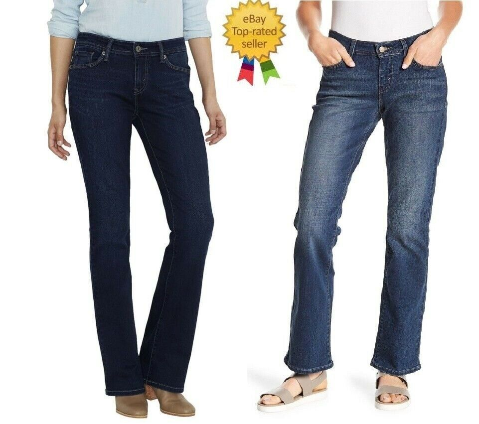 Womens White Slim Fit Jean Flared Denim Bootcut Jeans Size 6 8 10 12 14