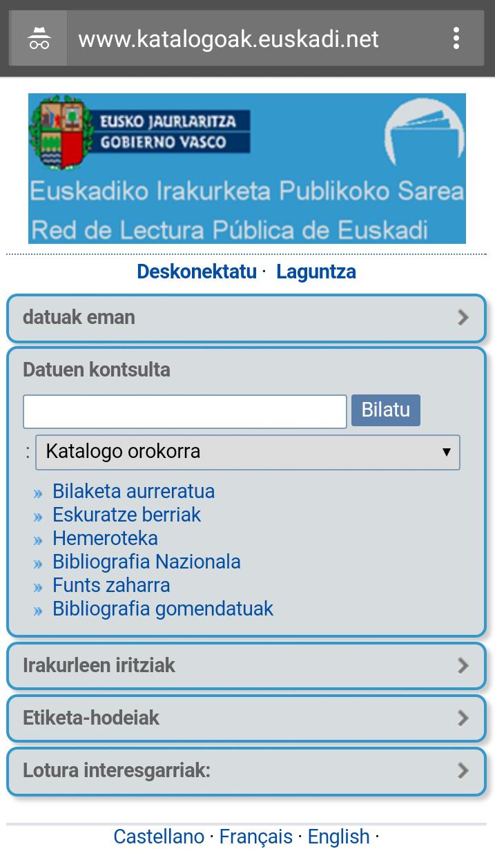 Red De Lectura Pública De Euskadi Lectura Gobierno