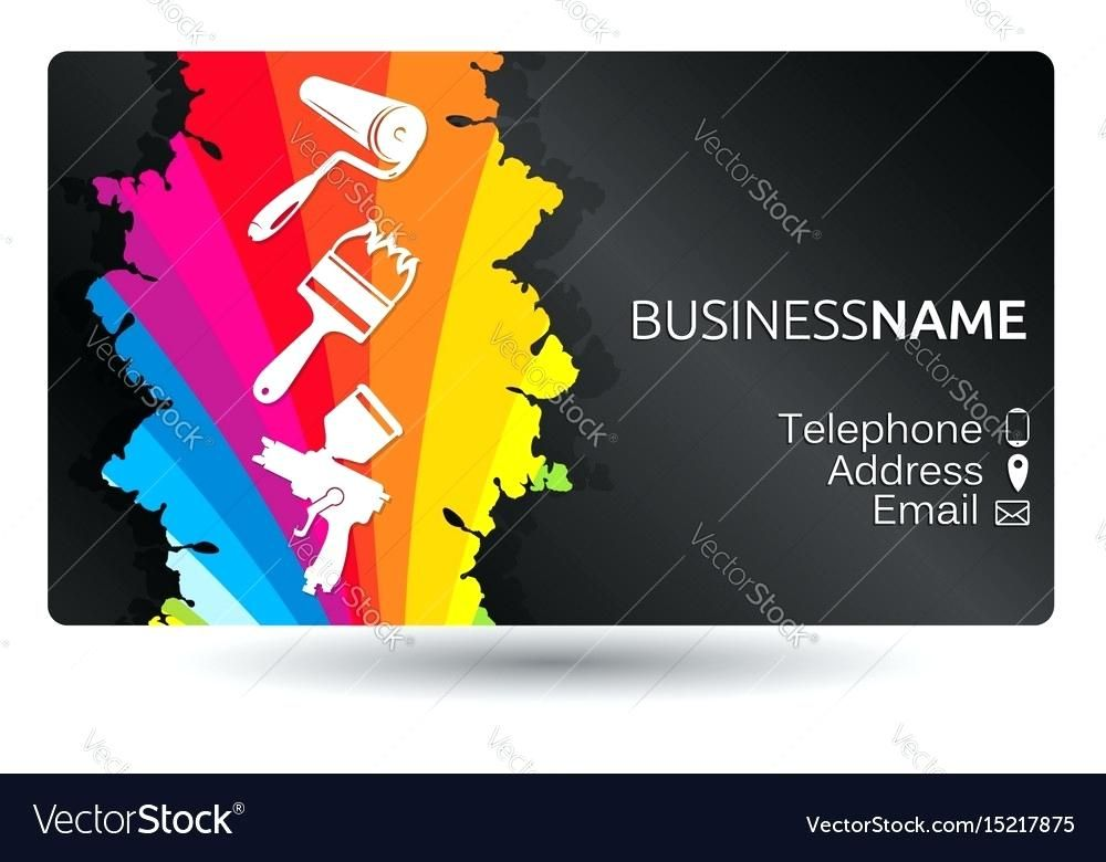 Painter Business Card Template Free Business Card For Painting The Layout Vector Imag Painter Business Card Free Business Card Templates Painted Business Cards