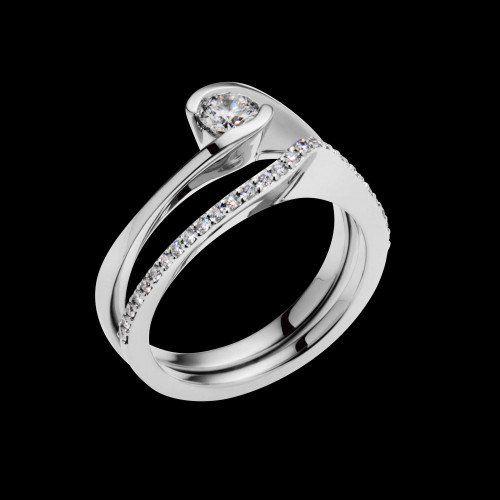 Aquarius Luminaire Diamond Ring