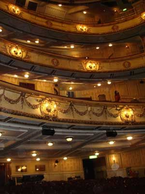 The Auditorium Of Novello Theatre Seating Is Spread Across Four Levels Stalls