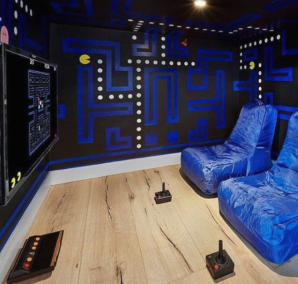 60 Game Room Ideas For Men Cool Home Entertainment Designs Small Game Rooms Gamer Bedroom Game Room Decor