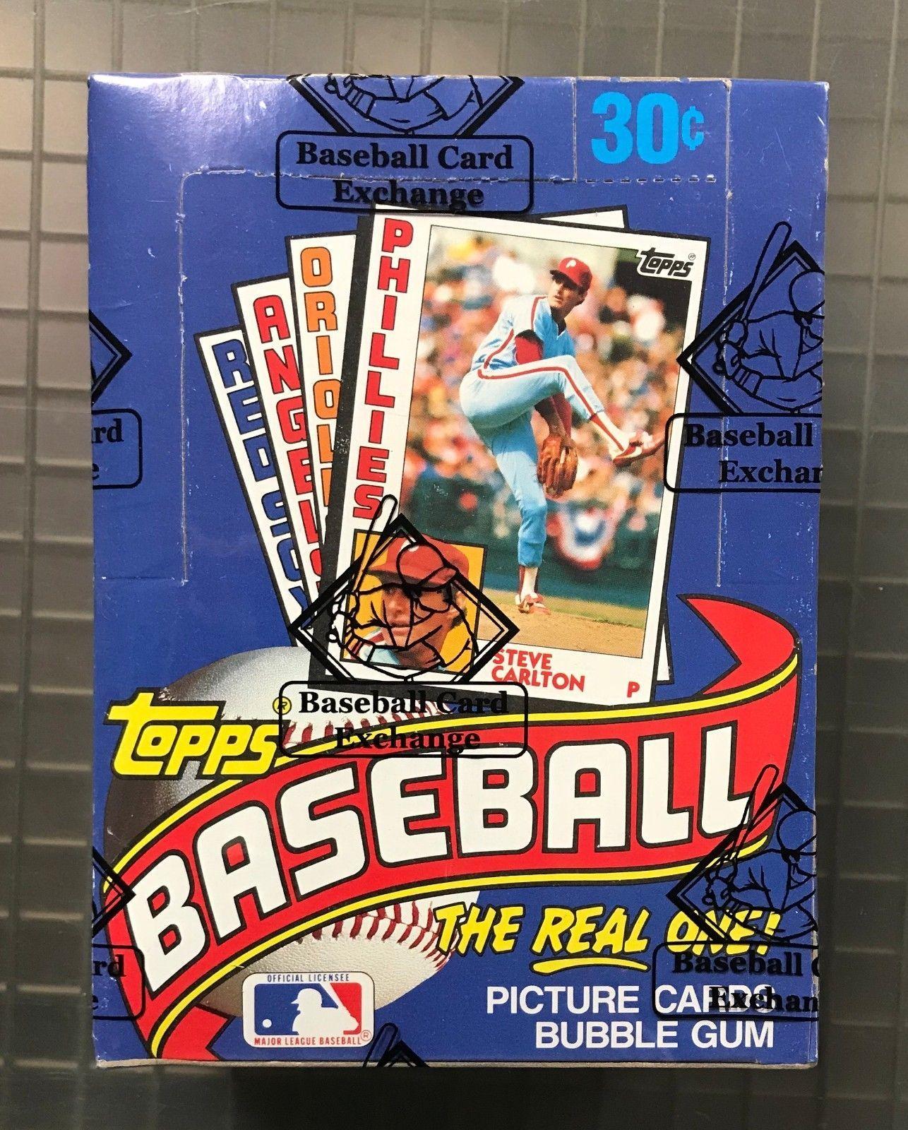 1984 topps baseball unopened wax pack box w 36 packs bbce