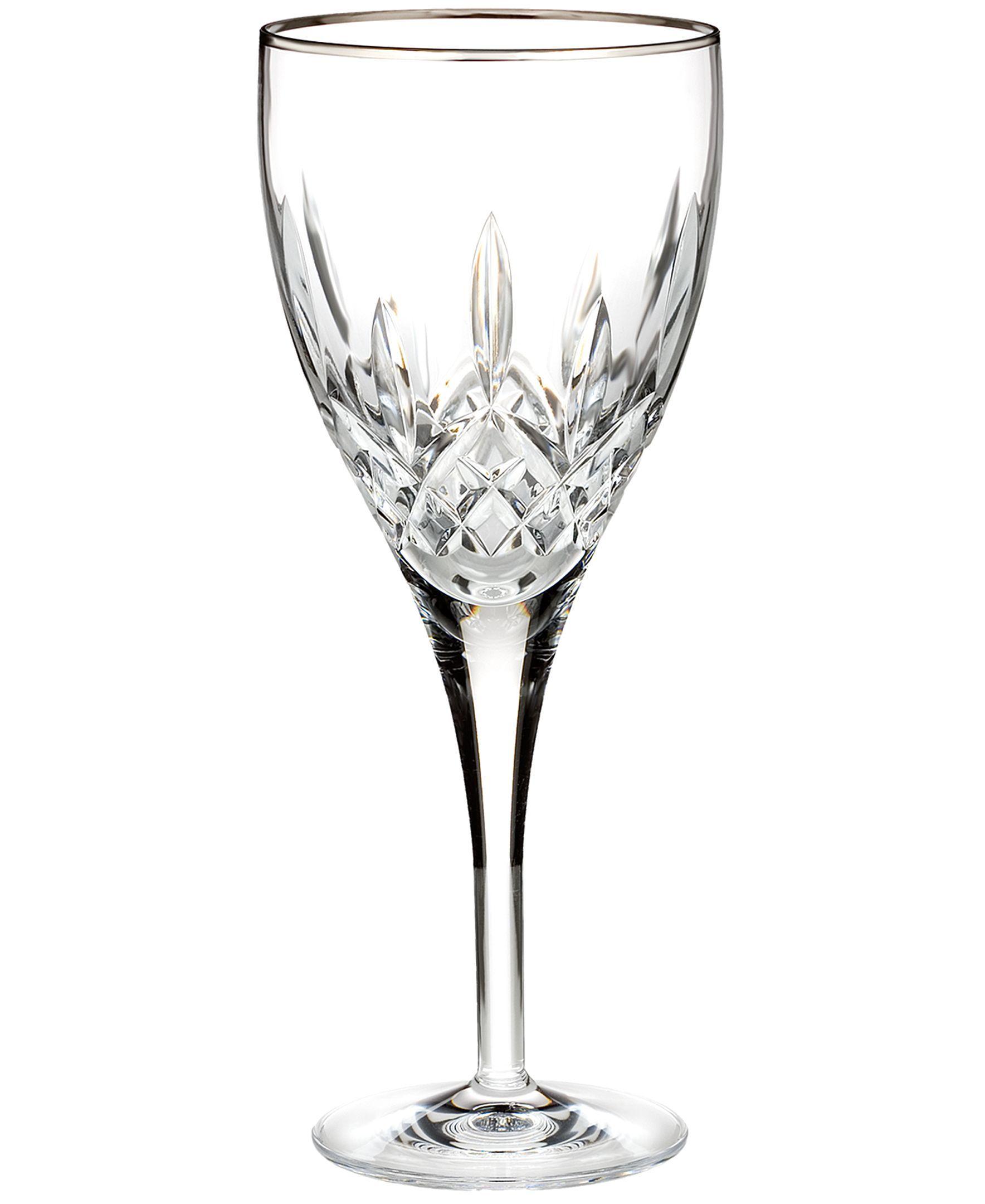 Waterford Stemware, Lismore Nouveau Platinum Goblet